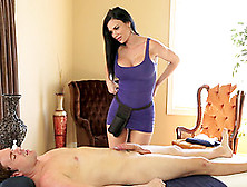 Jasmine Jae Gives Her Accountant A Massage Then Sits On His Cock