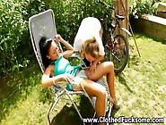 Clothed Outdoor Fetish Pussy Play With 2 Sexy Lesbians By Denise