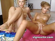 Beautiful Amazing Lesbian Teens Oiling On Webcam