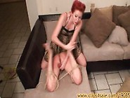 Femdom Miss Whiskey Whipped Ballbusted And Waxed By My Stepsiste