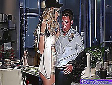 Horny Secretary Natalia Starr Lures Security Guard To Fuck Her H
