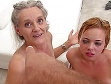 Mature Slut Elisa A And Tricia Teen In A Threesome With A Hot Gu