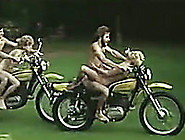 Horny Bikers Drill Their Blond Head Girlies Right On Motorcycles