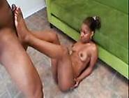 Ebony Girl Footjobs