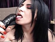 Huge Breasted Brunette Milf Works Her Sexy Lips On A Big Black D