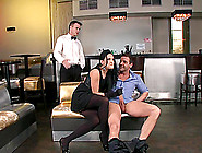 Smoking Hot Brunette Clair Brooks Is Enjoying Two Thick Cocks