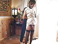 Cute Japanese Tranny In Black Stockings Is Having Bondage Sex