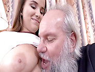 Nasty Grandpah Fills A Hot Teen With His Old Sausage