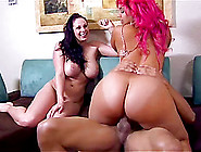 Naughty Cowgirl With Big Ass And Long Hair Riding On Massive Dic