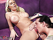 Gorgeous Blonde With Big Fake Boobs Riley Evans Gets Nice Cunnil