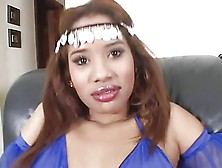 Latina Arab Dressed Fuck On Sofa