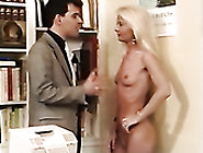 Slender Blonde Secretary Sucks Fingers Of Her Boss And Gets Fist
