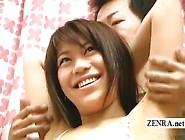 Subtitled Bizarre Cfnm Amateur Japanese Armpit Handjob
