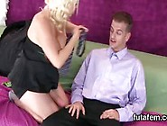 Teenies Plow Dudes Anal Hole With Monster Strapons And