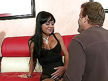 Sexy Nipple Rings On A Lusty Dick Sucking Slut