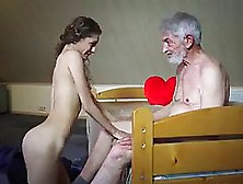 A Horny,  Elderly Guy Is Fucking A Sweet,  Blonde Teen,  Because He