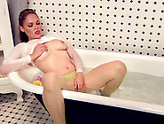 Sexy Solo Model With Natural Tits Masturbating Inn A Bath Tub