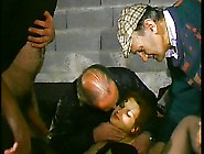 French Old Men And A Redhead Teen In Gangbang