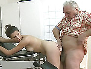 Old Perverted Man Enjoyed To Fuck A Young Babe In His Office
