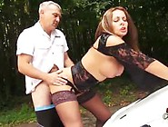 Dirty Cumslut Milf Pussy Fucked Hard And Fast On Bonnet