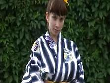 Yulia Nova Removes Her Kimono