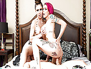 Hot Tattooed Redhead In A Hardcore Threesome With Jessica