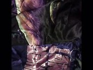 Me Jacking Off & Cuming In Purple Silk Boxers