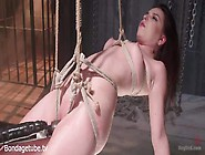 Juliette March Gets Spread Wide And Wrapped In Bdsm Ropes