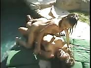 Cute Nudists Swim