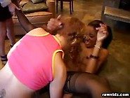 White And Ebony Lesbians Play With Toys