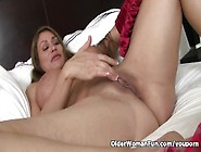 American Milf Sheila Feels Naughty In Red Lingerie