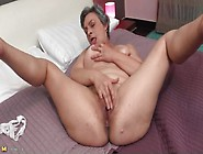Grey Hair Granny Masturbates Alone In Bed