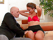 Horny Bald Dude Attack Allie With The Dick Of Her Wildest Dreams