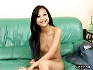 Gorgeous Long Haired Asian Fingers Self