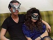 Seductive Masked Brunette Babe Gets Hard Fuck On The Couch