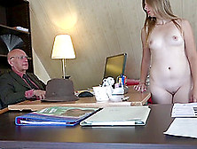 She Wants The Job So Badly She Shows Up Naked To The Interview