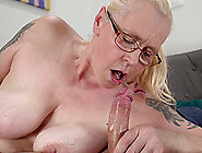 Blonde Granny Violett Likes To Ride A Dick While She Moans Loudl