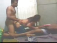 Indian Busty Aunty Getting Pleasured By Two Man