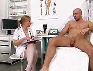 Sperm Hospital - Horny Uniform Lady Gabina Jerking Off A Patient