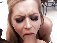 Nasty Blonde Darcy Tyler Gets Her Mouth And Pussy Streched