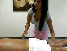 Oriental Masseuse Orally Pleasing Client