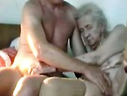 Very Old Couple Masturbating And Licking In Bedroom Together