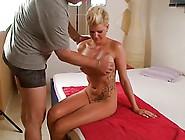 Tattooed Blonde Melanie Muller Having Her German Cunt Fucked
