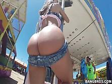 Crazy Stranger Fucks Franceska Jaimes's Anal Hole In A Public Pl