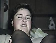 Bbwife Verena - Nylon Footjob #2. Avi