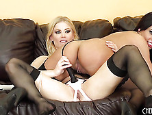 Pussy Fucking With A Strap-On That Her Sweetie Is Wearing