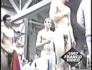 College Locker Room Weigh-In - Naked Jocks