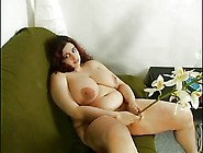 Horny Fat Bbw Sucking Her Own Tits Playing With Hairy Pussy