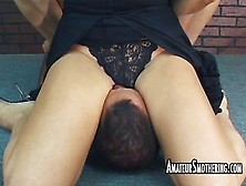Guy Gets Smothered In Pussy And Ass On Amateur Smothering