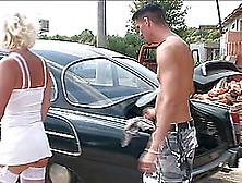 Hot Blonde Cougar Enjoys Riding Hard On A Massive Member